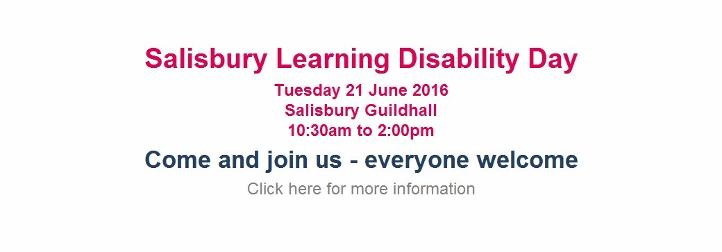 Salisbury Learning Disability Day 2016 #LDWeek16