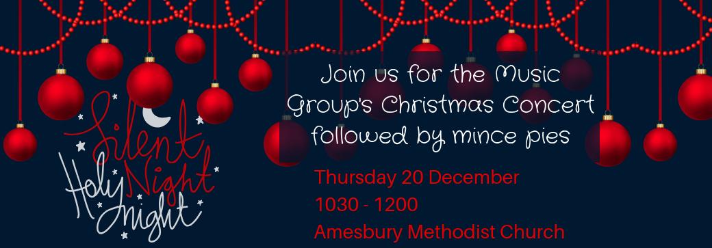 christmas concert carols Amesbury Salisbury December 2018